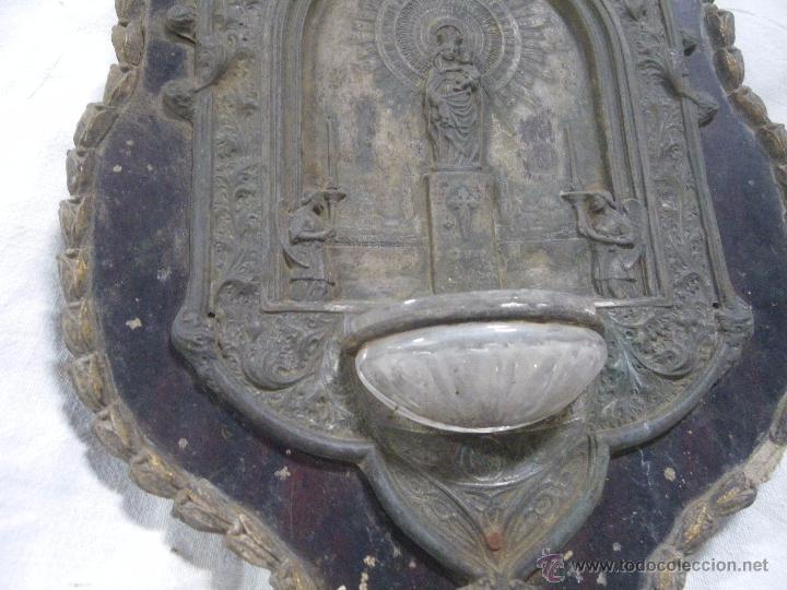 Antigüedades: . ANTIGUA BENDIETEA , VIRGEN DEL PILAR ,,,IDEAL RESTAURADORES ,, VERR FOTOS - Foto 2 - 48727775