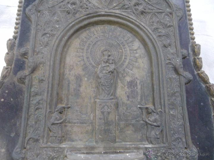 Antigüedades: . ANTIGUA BENDIETEA , VIRGEN DEL PILAR ,,,IDEAL RESTAURADORES ,, VERR FOTOS - Foto 3 - 48727775
