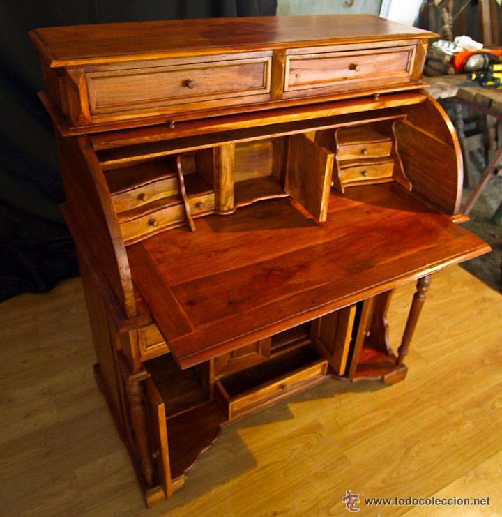 Bur escritorio en madera de teca comprar escritorios - Escritorios antiguos baratos ...
