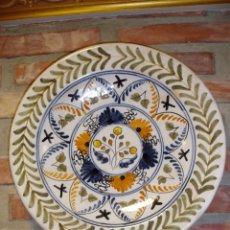 Antigüedades: PLATO DE PORCELANA DE TALAVERA. NÚMERADO. Lote 48730998