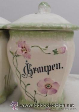 Antigüedades: Porcelana alemana - tarros de cocina, estilo modernista - Foto 4 - 48734952