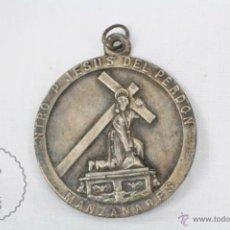 Antigüedades: MEDALLA DE NTRO. P. JESÚS DEL PERDÓN, MANZANARES - MEDIDAS 40 MM DE DIÁMETRO. Lote 48738548