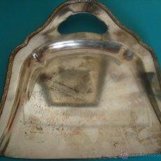 Antigüedades: PALA RECOGE MIGAS EN METAL PLATEADO. Lote 48741839