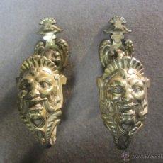 Antigüedades: ESPECTACULARES ABRAZADERAS - ALZAPAÑOS DE BRONCE PARA CORTINAS - CORTINAJES ANTIGUOS. Lote 48746980