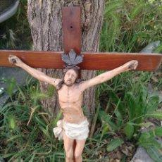 Antigüedades: TALLA CRISTO CRUCIFICADO LEER. Lote 48747734