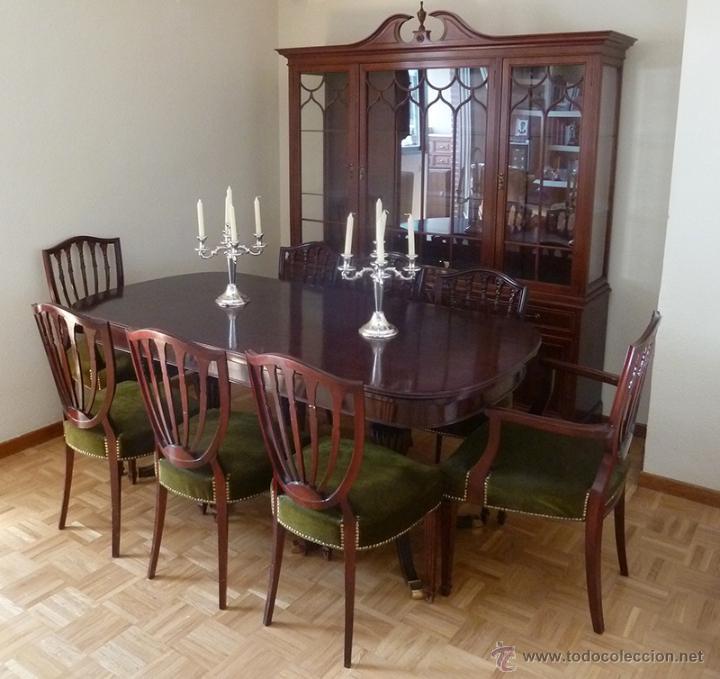Importante conjunto de mesa de comedor extensib - Verkauft in ...