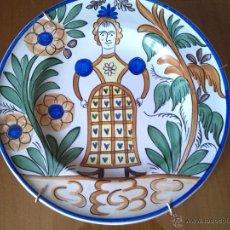 Antiquitäten - PLATO DE CERAMICA DE MANISES CON FIRMA DETRAS - 48753478
