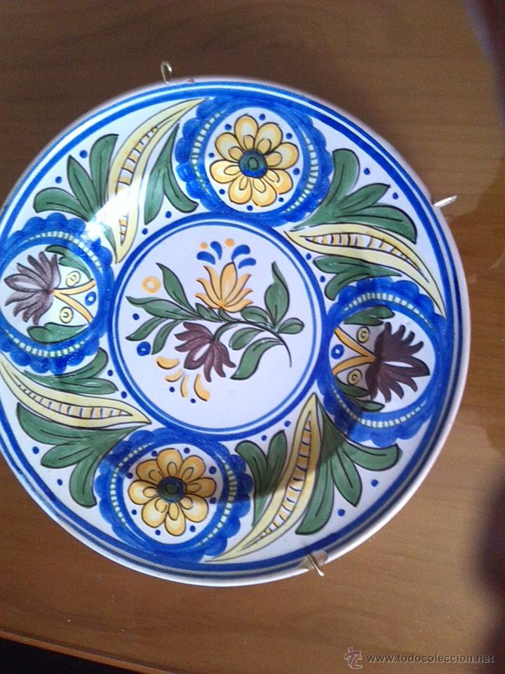Plato de ceramica de manises firmado detras comprar for Platos de ceramica