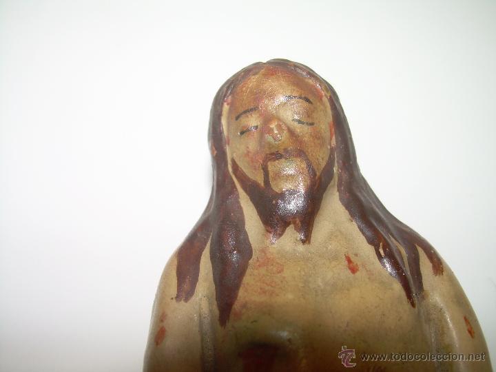 Antigüedades: ANTIGUA IMAGEN RELIGIOSA DE TERRACOTA...SIGLO XIX..EPOCA ISABELINA...PERFECTO ESTADO DE CONSERVACION - Foto 8 - 48756475