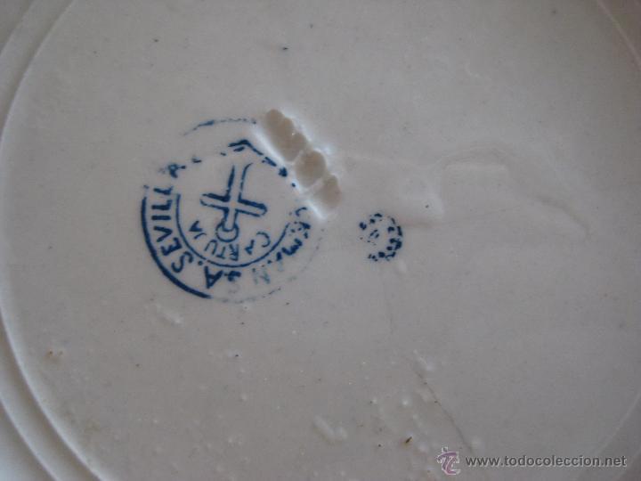 Antigüedades: IMPOSIBLE VAJILLA ANTIGUA PICKMAN SERIE CARLOTA AZUL - Foto 4 - 48757139