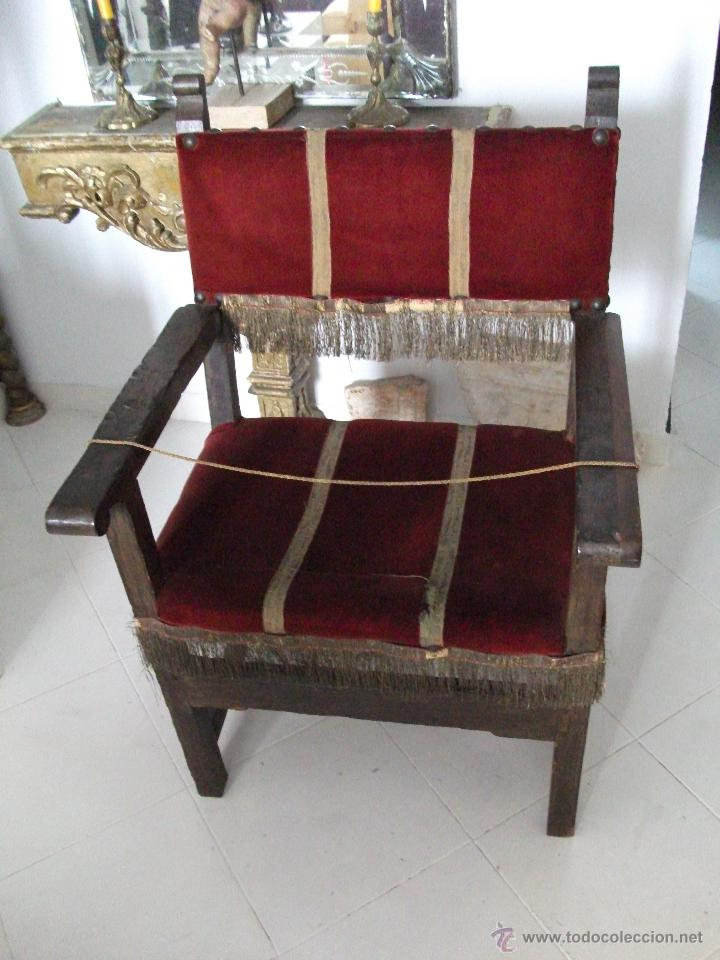SILLÓN FRAILERO S.XVIII. SÓLO RECOGIDA EN SEVILLA. (Antigüedades - Muebles Antiguos - Sillones Antiguos)