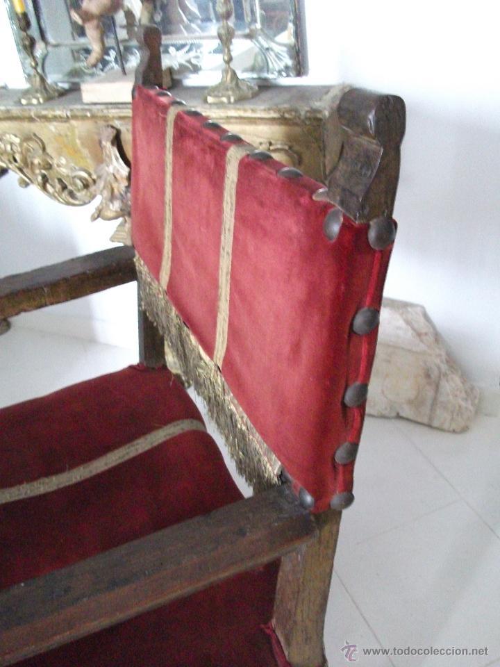 Antigüedades: Sillón frailero s.XVIII. Sólo recogida en Sevilla. - Foto 3 - 48771122
