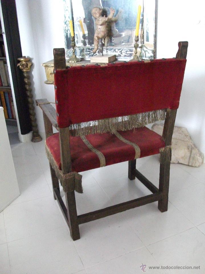 Antigüedades: Sillón frailero s.XVIII. Sólo recogida en Sevilla. - Foto 4 - 48771122