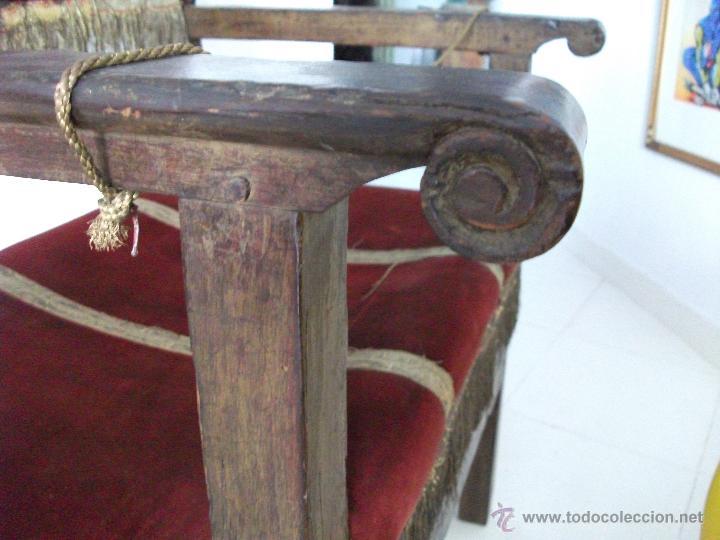 Antigüedades: Sillón frailero s.XVIII. Sólo recogida en Sevilla. - Foto 5 - 48771122