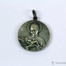 Antigüedades: M-209. ANTIGUA MEDALLA RELIGIOSA EN METAL PLATEADO. Lote 48772511