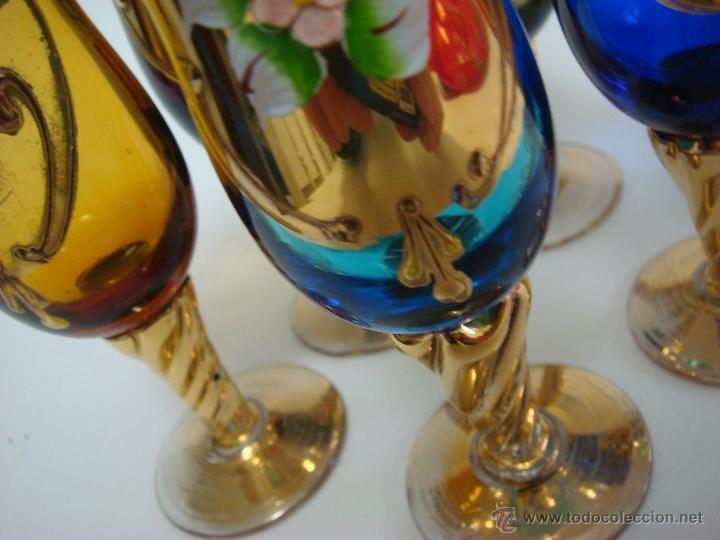 Antigüedades: Juego de licor de cristal de Murano. Venecia - Foto 6 - 65017086