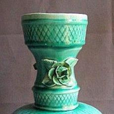 Antigüedades: JARRON FLORERO DE CERAMICA DE MANISES DE LOS AÑOS 60. Lote 48780953