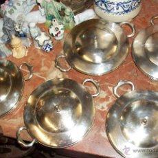 Antigüedades: ANTIGUO JUEGO DE CAZUELAS. Lote 48782000