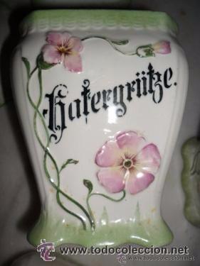 Antigüedades: Porcelana alemana - tarros de cocina, estilo modernista - Foto 13 - 48734952