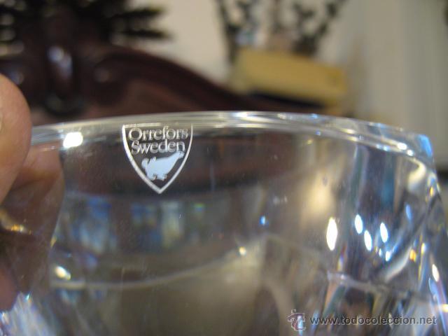 Antigüedades: Espectacular centro cristal Orrefors firmado altura 10 cm., diametro 17 cm. peso 2.400 gr.Diseño - Foto 3 - 48819552