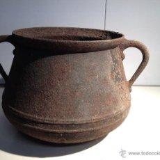 Antigüedades: OLLA, PUCHERO, CALDERO.DE HIERRO. Lote 48821258