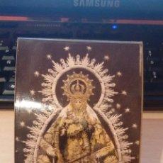Antigüedades: PORTAFOTO CON IMAGEN RELIGIOSA - VIRGEN - SEMANA SANTA - MEDIDA 10X15CM. Lote 48823818