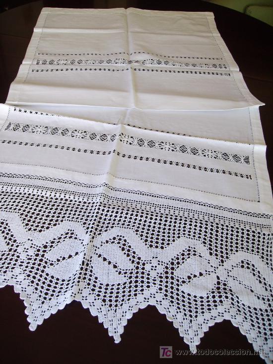 Precioso panel cortina ganchillo a mano beige comprar for Cortinas ganchillo