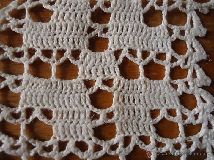Antigüedades: 11x 10 antigua aplicacion realizada a mano, pequeña cortinilla puntilla encaje,,,, original epoca - Foto 2 - 48854665