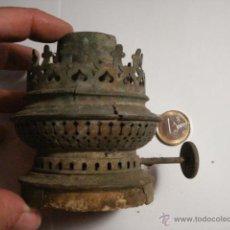 Antigüedades: GIGANTE QUEMADOR DE QUINQUE ANTIGUO - MARCA RUNDERENNER - AÑOS 1900 - 45 MM ROSCA. Lote 48860869