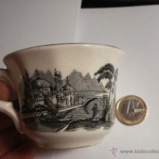 Antigüedades: BONITA TAZA DE CAFE LA CARTUJA DE SEVILLA PICKMAN. Lote 48860943
