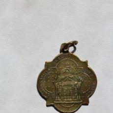 Antigüedades: M- 238. MEDALLA EN BRONCE DE LA VIRGEN DEL PILAR.. Lote 48866238