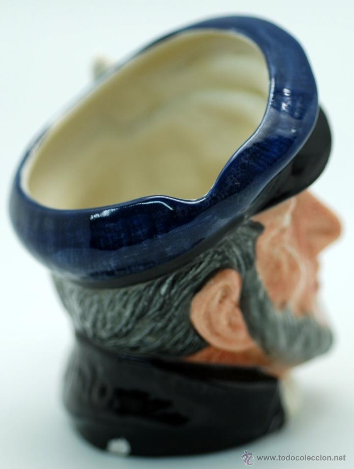 Antigüedades: Toby jug jarra porcelana Royal Doulton Captain Ahab sello base - Foto 2 - 48866985