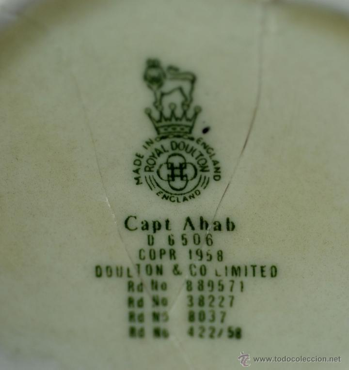 Antigüedades: Toby jug jarra porcelana Royal Doulton Captain Ahab sello base - Foto 7 - 48866985