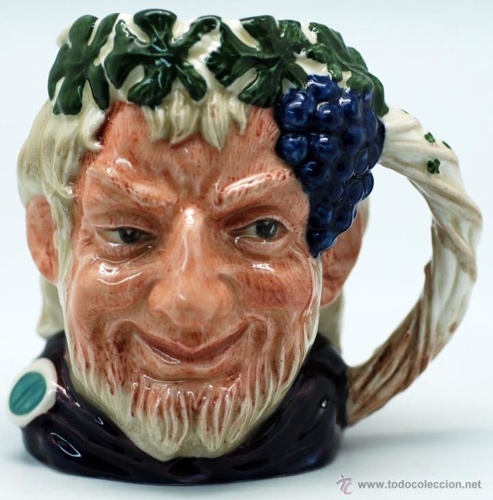 TOBY JUG JARRA PORCELANA ROYAL DOULTON BACCHUS SELLO BASE (Antigüedades - Porcelanas y Cerámicas - Inglesa, Bristol y Otros)
