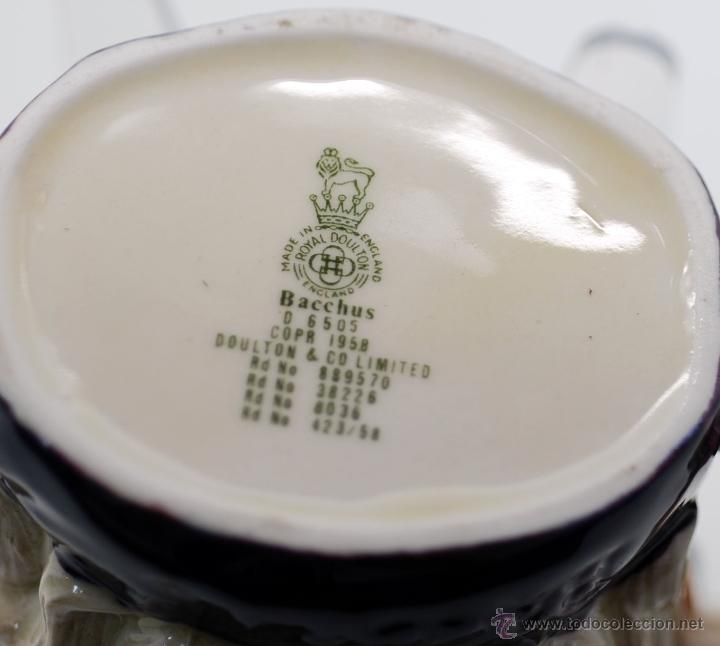 Antigüedades: Toby jug jarra porcelana Royal Doulton Bacchus sello base - Foto 7 - 48867000