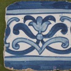 Antigüedades: AZULEJO ANTIGUO DE PORTUGAL - FINALES SIGLO -XVIII.. Lote 48867167