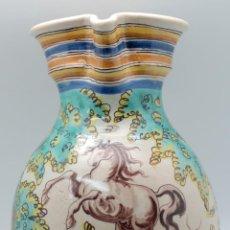 Antigüedades: JARRA CERÁMICA TALAVERA CABALLO RUIZ DE LUNA HACIA 1900. Lote 48868262