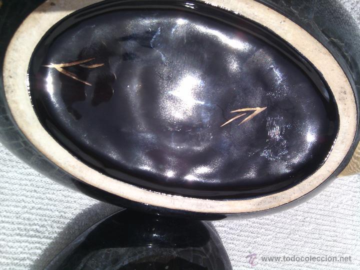 Antigüedades: SOPERA ORIENTAL INDIVIDUAL EN PORCELANA IRISADA Y DETALLES AL ORO FINO. - Foto 6 - 48871904