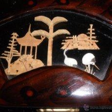 Antigüedades: DIORAMA CHINO JOYERO- CAJITA LACADA. JOYERO CHINA LACADO.. Lote 48874658