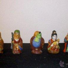 Antiquités: SIETE DIOSES CHINOS DE LA FORTUNA. PORCELANA ANTIGUA CHINA. Lote 48877091