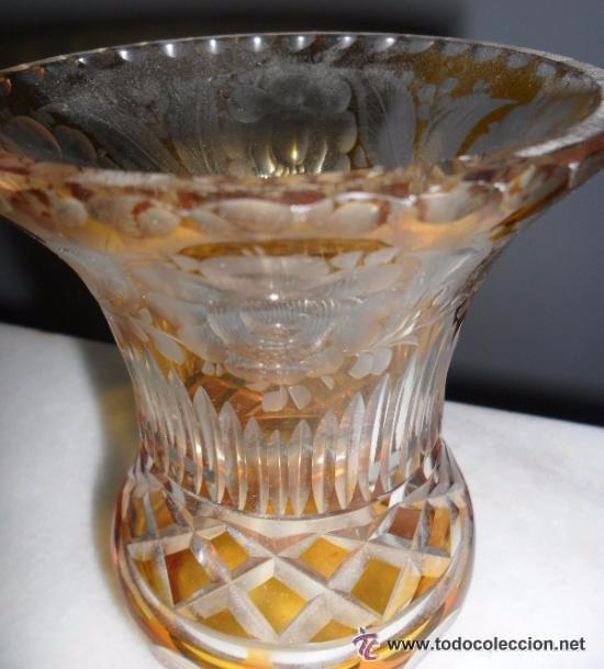 Antigüedades: Antiguo florero tallado - Foto 3 - 118669047