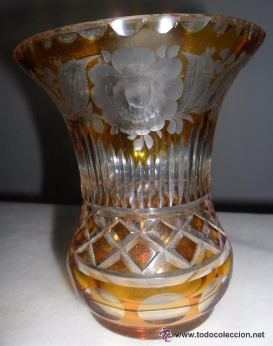 Antigüedades: Antiguo florero tallado - Foto 6 - 118669047