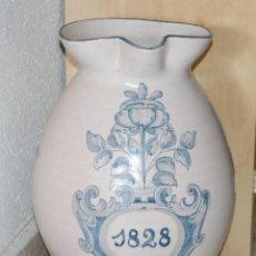 Antigüedades: ANTIGUO JARRO DE BOLA CERAMICA TALAVERA AÑO 1828. Lote 48900469