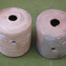 Antigüedades: LOTE DE DOS BOTES ANTIGUOS EN CERAMICA - TOLEDO - ETNOGRAFIA.. Lote 48901148