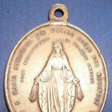 Antigüedades: MEDALLA RELIGIOSA EN BRONCE . Lote 48906255