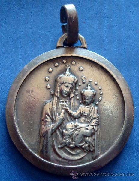 MEDALLA RELIGIOSA EN BRONCE (Antigüedades - Religiosas - Medallas Antiguas)