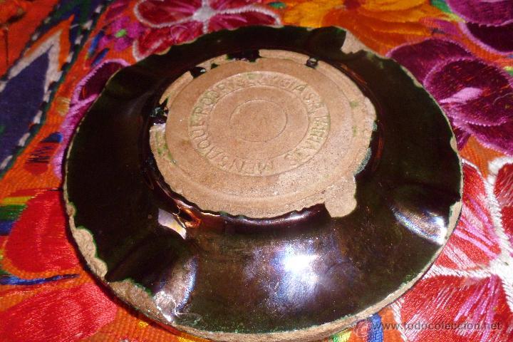 Antigüedades: CENICERO MENSAQUE RODRIGUEZ Y CIA REFLEJOS DORADOS TRIANA - Foto 2 - 48909001