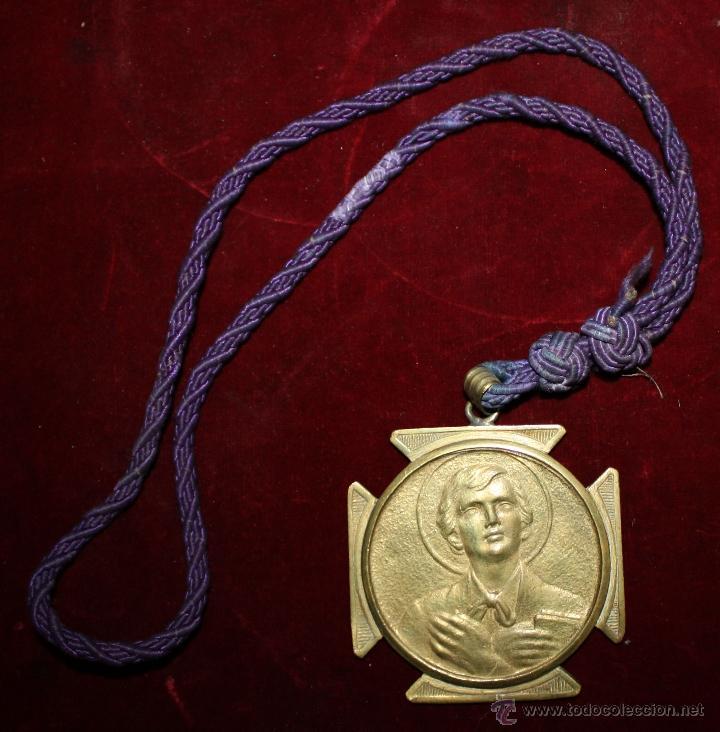 GRAN MEDALLA DE TEMA RELIGIOSO REALIZADA EN BRONCE. PRINCIPIOS DEL SIGLO XX (Antigüedades - Religiosas - Medallas Antiguas)