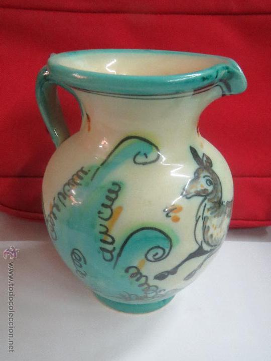 JARRA DEL PUENTE DEL ARZOBISPO.18 CM. (Antigüedades - Porcelanas y Cerámicas - Puente del Arzobispo )