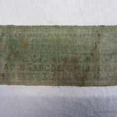 Antigüedades: ABECEDARIO BORDADO DEL SIGLO XIX. Lote 48921581